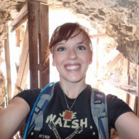ARCS Scholar Nikayla Strauss selfie in a cavern