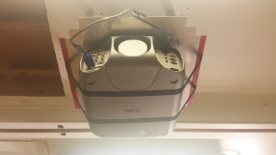 Projector as mounted