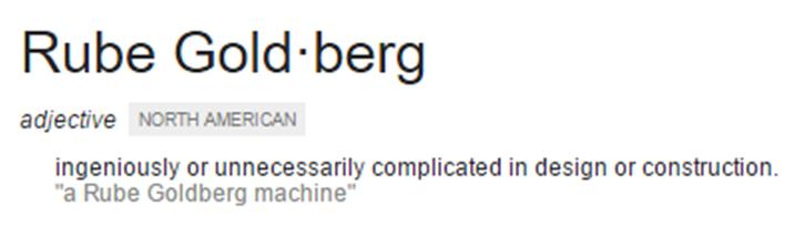 Rube Goldberg definition