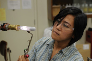 While a doctoral student, Marianne Tarun accidentally discovered that the electrical conductivity of a crystal increases 400-fold when it's exposed to light.