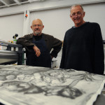 L to R - Jim Dine  and Chris Bruce