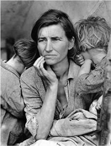 Corbis,-Migrant-Mother-by-Dorthea-Lange,-1936