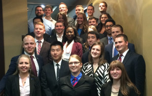 Teams anticipate final placings at the Business Plan Competition Awards Ceremony.