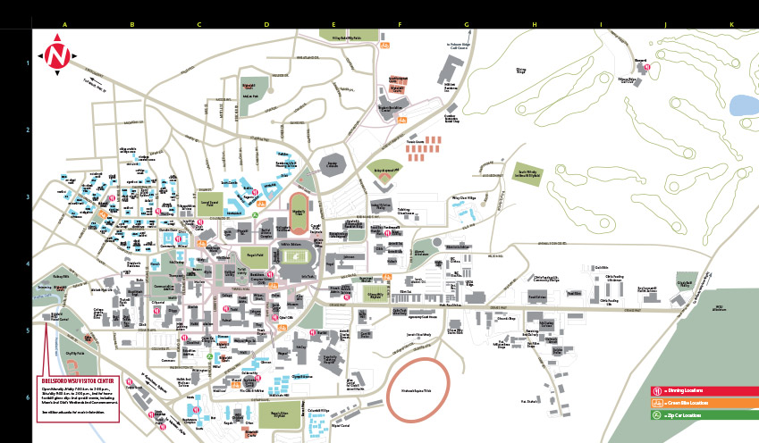Washington State University Campus Map Pullman campus map | University Marketing and Communications