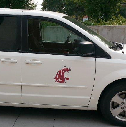university-van-decal