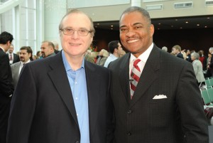 Paul Allen and WSU President Elson S. Floyd at the public launch of The Campaign for WSU, Dec. 2, 2010