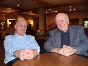 Leonard B. Kirschner (L) and Craig Jackson (R) have remained friends since Jackson was a student at WSU in the 1960s.