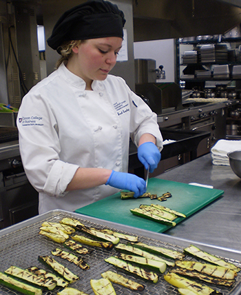 WSU School of Hospitality Business Management senior Sarah Beaudry ('16) is certified in Food Allergy Safe training, a valuable (and life-saving) skill among today's culinary professionals.