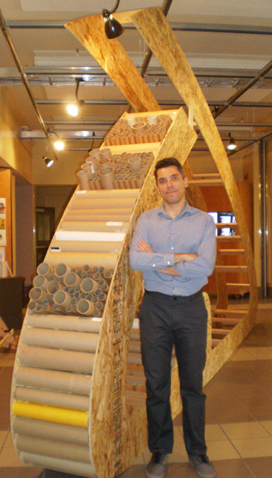 Omar Al-Hassawi, instructor in WSU's School of Design and Construction, challenged his students to design sturdy, functional, and moveable shelters.