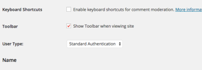 """If the new user is external to WSU, be sure to choose """"Standard Authentication"""" from the dropdown menu instead of WSU Network ID"""