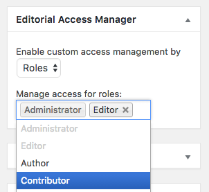 Manage editorial access to a page by role